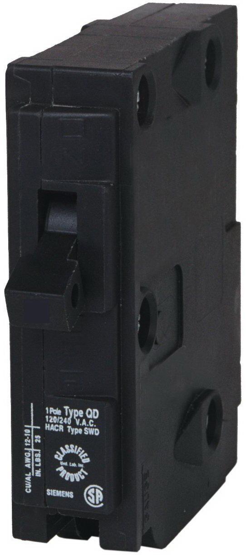 Murray MQ140 Type MSQ Circuit Breaker, 120 VAC, 40 A, 1 P, 10 kA