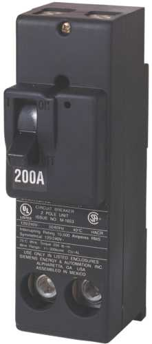 MURRAY MPD2200 CIRCUIT BREAKER, 200 AMP, 2 POLE, 240 VOLT