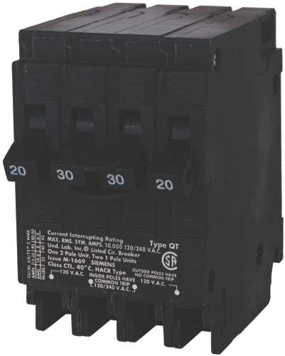 MURRAY MP22020 CIRCUIT BREAKER, ONE 20 AMP DOUBLE POLE, TWO 20 AMP SINGLE POLES