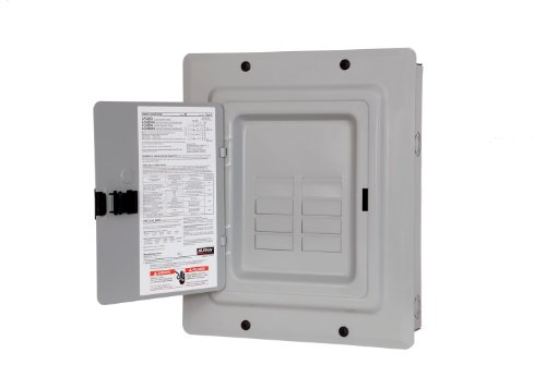 MURRAY LC008DFU LOAD CENTER, 8 SPACES, 16 CIRCUITS, 125 AMP, MAIN LUG, FLUSH MOUNT