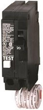 MURRAY MP130GFA GFCI CIRCUIT BREAKER, PLUG IN, SELF TESTING, 30 AMP, 1-POLE, 120 VOLT