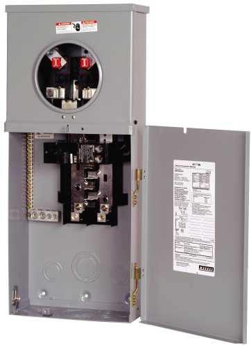 OUTDOOR MAIN BREAKER METERED SERVICE EQUIPMENT PANEL 200AMP