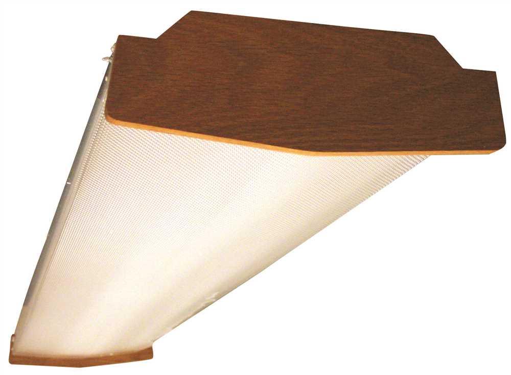 SIMKAR FLUORESCENT LIGHT FIXTURE, 2 BULB, 4 FT., SOLID OAK ENDS