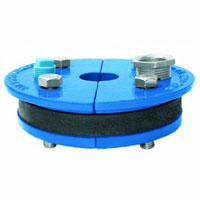 Simmons 136 Single Drop Single Hole Well Seal, Cast Iron, Zinc Plated