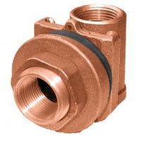Simmons 1840SB Pitless Adapter, 1 in Pipe, 1-3/4 in Casing, 5000 lb, Silicon Bronze