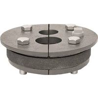 Simmons 152 Double Drop Double Hole Well Seal, 4 in ID Well, 1-1/4 x 1 in Drop Pipe, 1/2 in Vent Trapping, Cast Iron