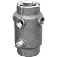 Simmons SB 4-Hole Check Valve, 1 X 1/4 in, FPT, 400 psi, Silicon Bronze Cast