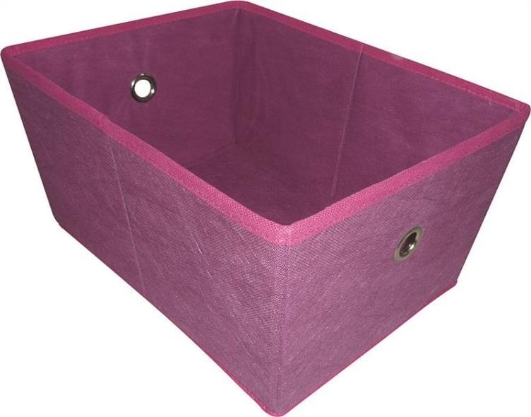Homebasix 05000949P Storage Bin With Holes, 16 x 12 x 8 in, Purple