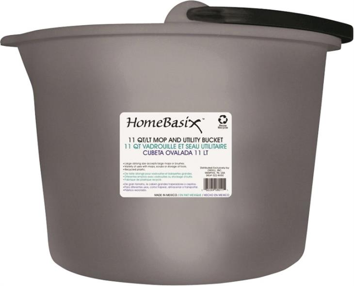 11QT OBLONG BUCKET W/HANDLE