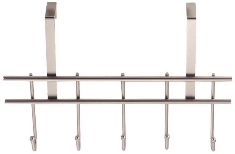 Homebasix HK07-CH Utility Hook, Door Garment Hook, 3 in L x 14 in W x 9-1/2 in H, Chrome
