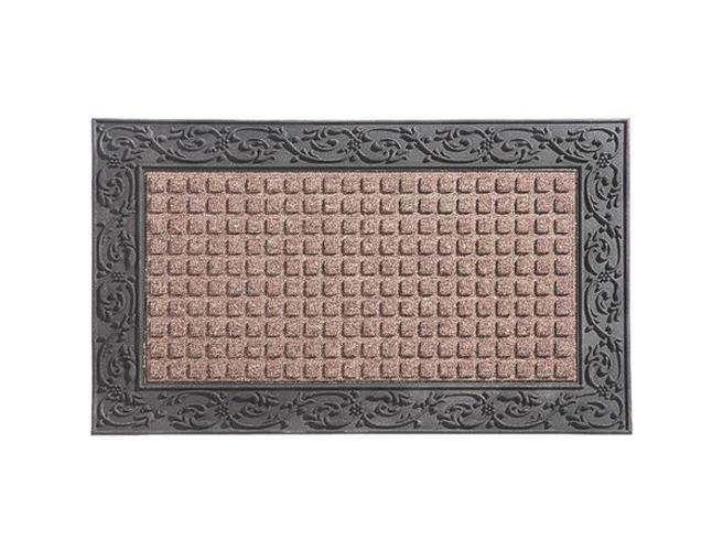 Homebasix 08ABSHE-30 Indoor/Outdoor Door Mat, 22 in W X 36 in L, Rubber