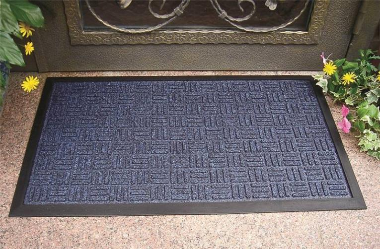 Homebasix 06ABSHE-11-3L Gateway Door Mat, 30 in L X 18 in W, Rubber