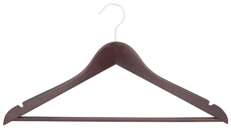 CLOTHES HANGER MAHOGANY 5PC