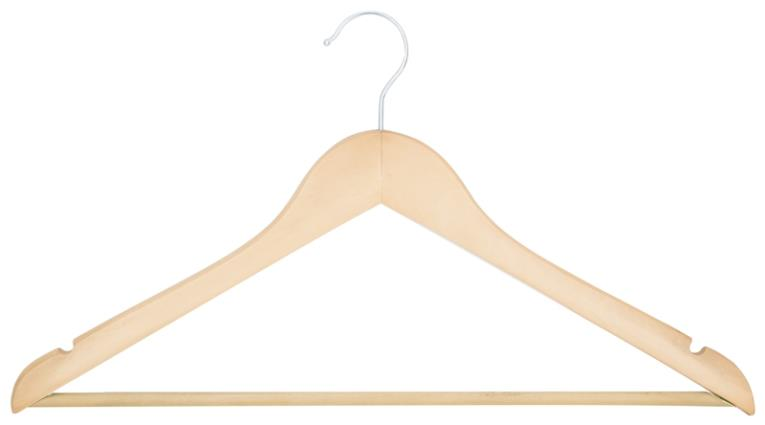 Homebasix HEA00040G-N Clothes Hanger Set, 44-1/2 in L x 22.7 in W, Wood, Natural