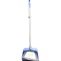 Homebasix 2149 Long Handle Dustpan With Broom, Synthetic Fibers, Brown, For Use With Broom