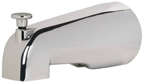 SIOUX CHIEF BATHTUB SPOUT WITH DIVERTER, CHROME, 1/2-INCH CWT