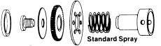 SLOAN SH-1008-A FLOW CONTROL CONVERSION REPAIR KIT