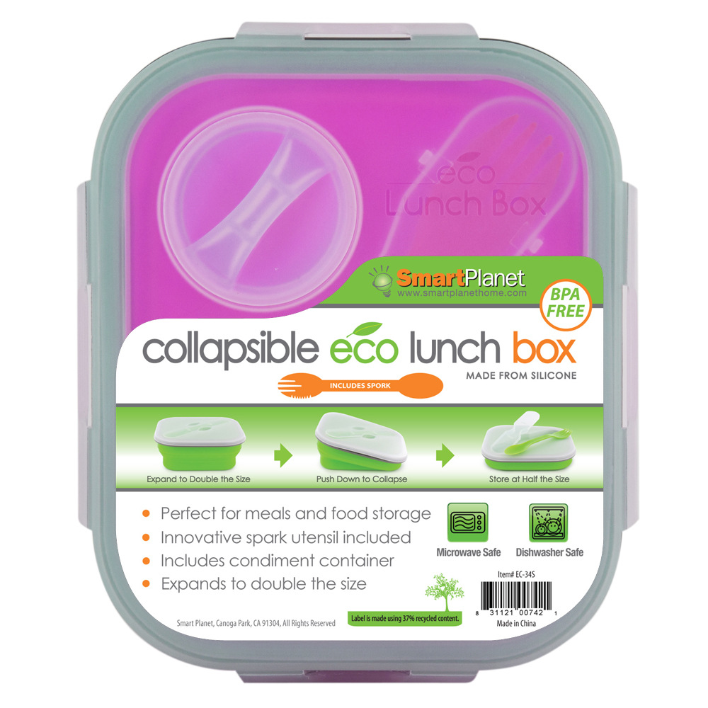 SMART PLANET EC34SP PINK MEAL KIT SMALL COLLAPSIBLE 32 OZ