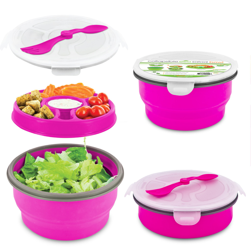 SMART PLANET EC34DSBP PINK  65OZ DELUX COLLAPSIABLE SALAD