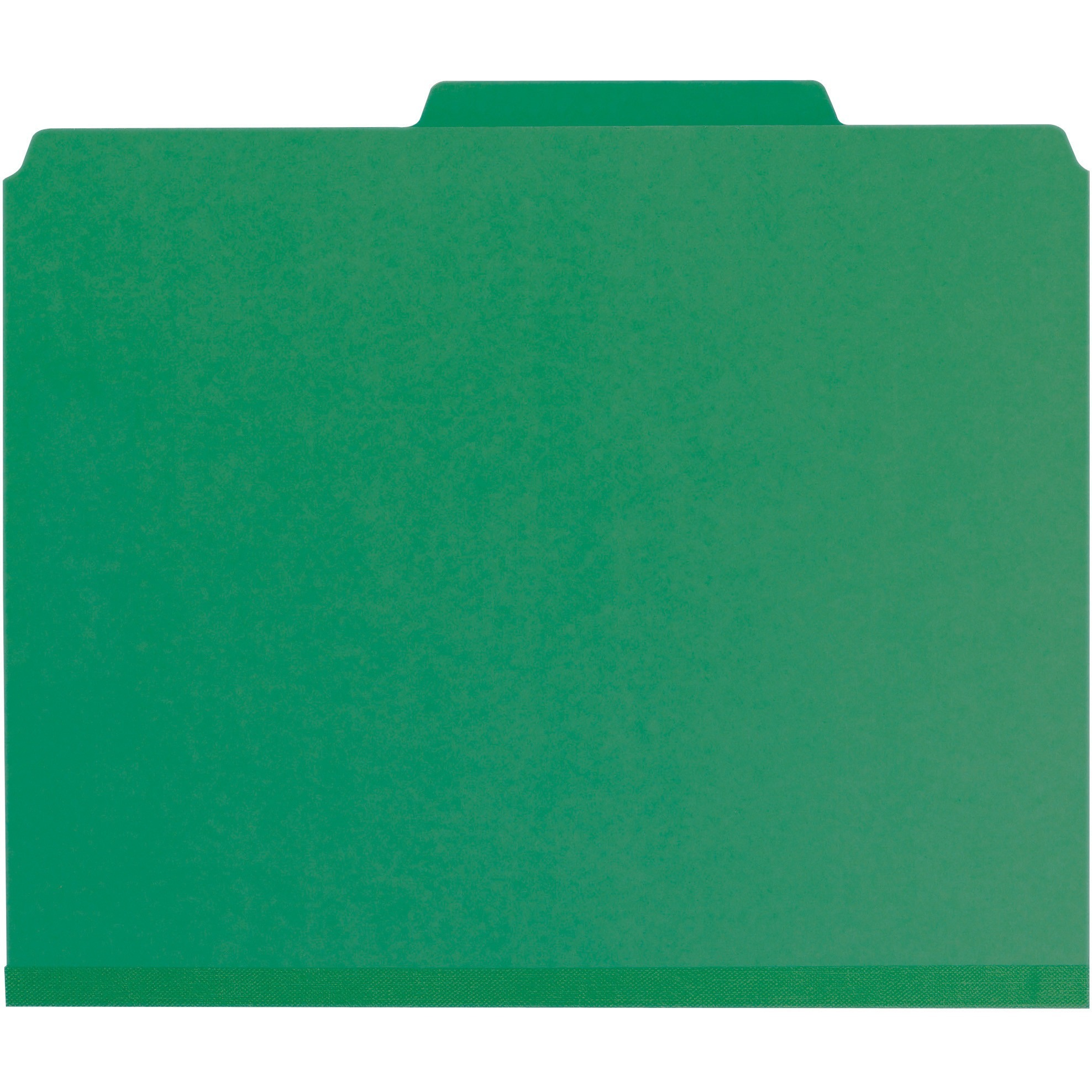 "3"" Expansion Classification Folder, 2/5 Cut, Letter, 8-Section, Green, 10/Box"