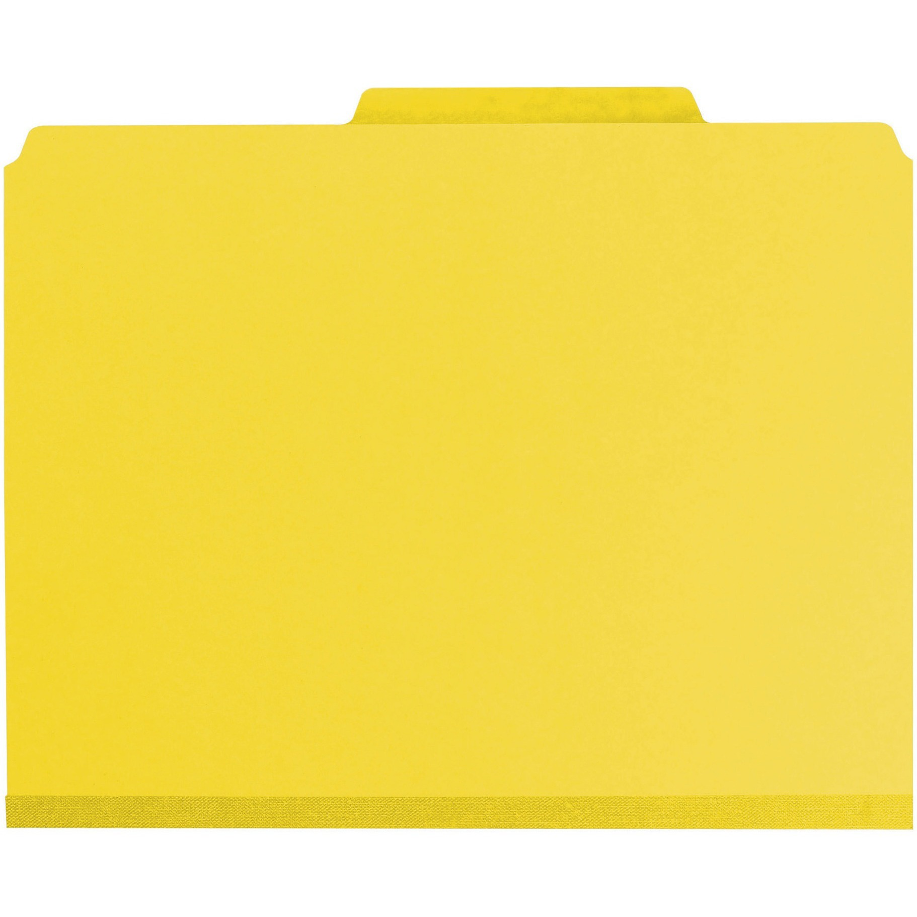 "3"" Expansion Classification Folder, 2/5 Cut, Letter, 8-Section, Yellow, 10/Box"