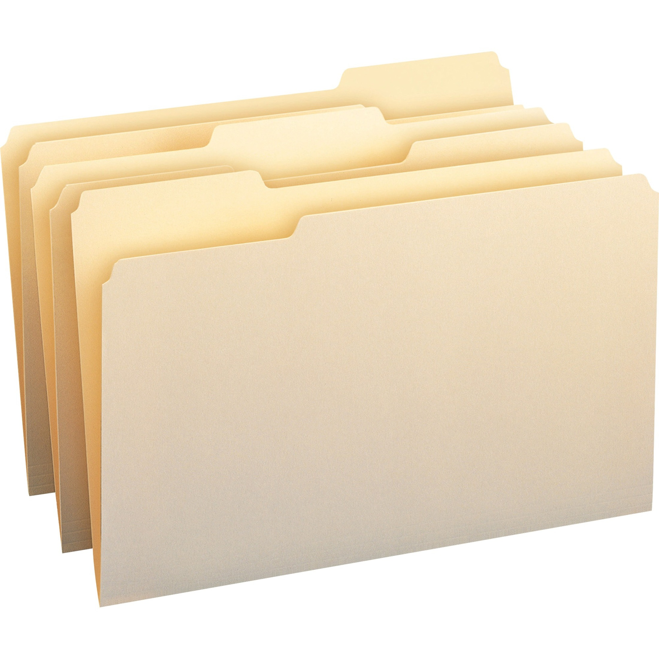 100% Recycled File Folders, 1/3 Cut, One-Ply Top Tab, Legal, Manila, 100/Box