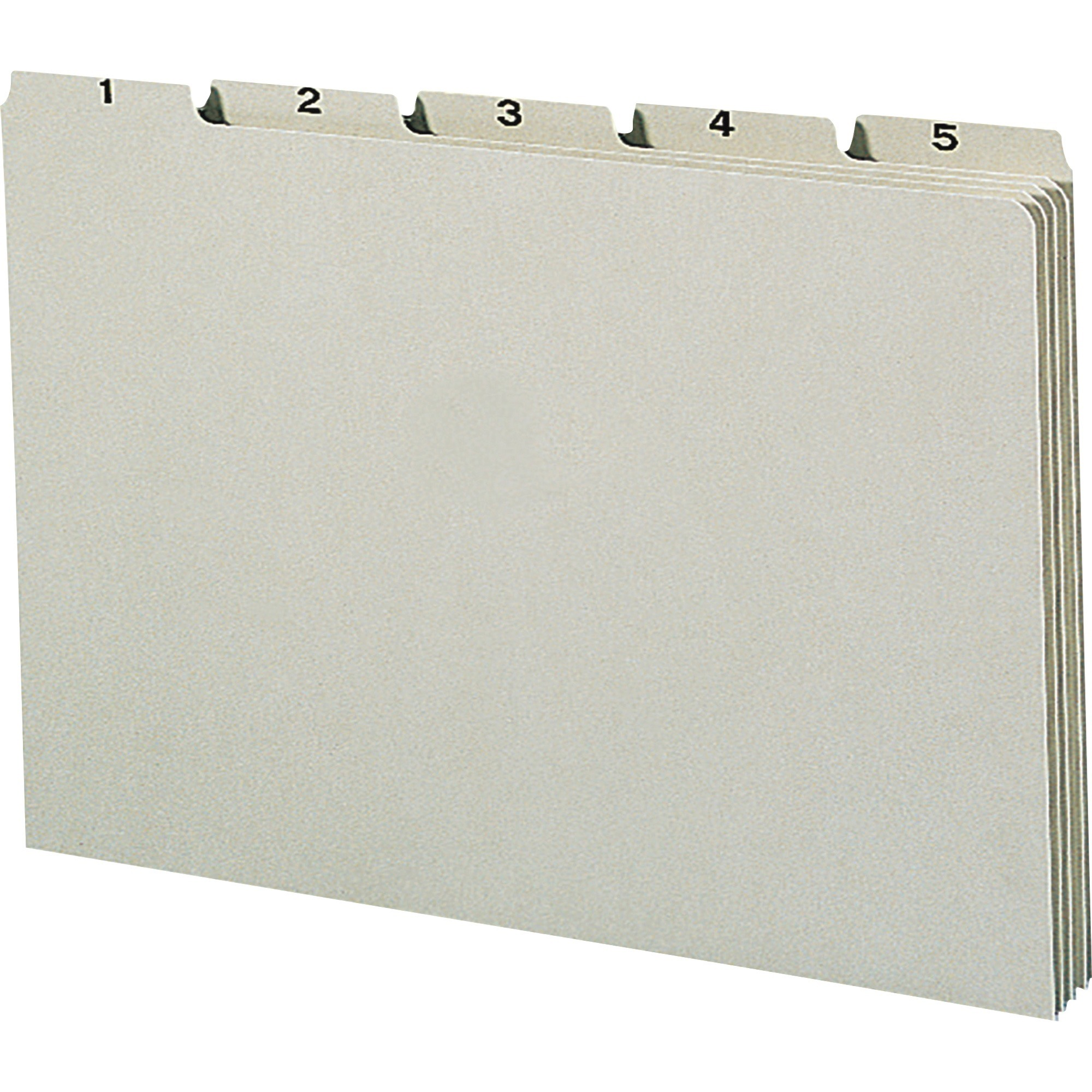 Recycled Top Tab File Guides, Daily, 1/5 Tab, Pressboard, Legal, 31/Set