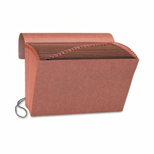 Heavy-Duty A-Z Expanding File, 21 Pocket, Letter, Redrope Printed
