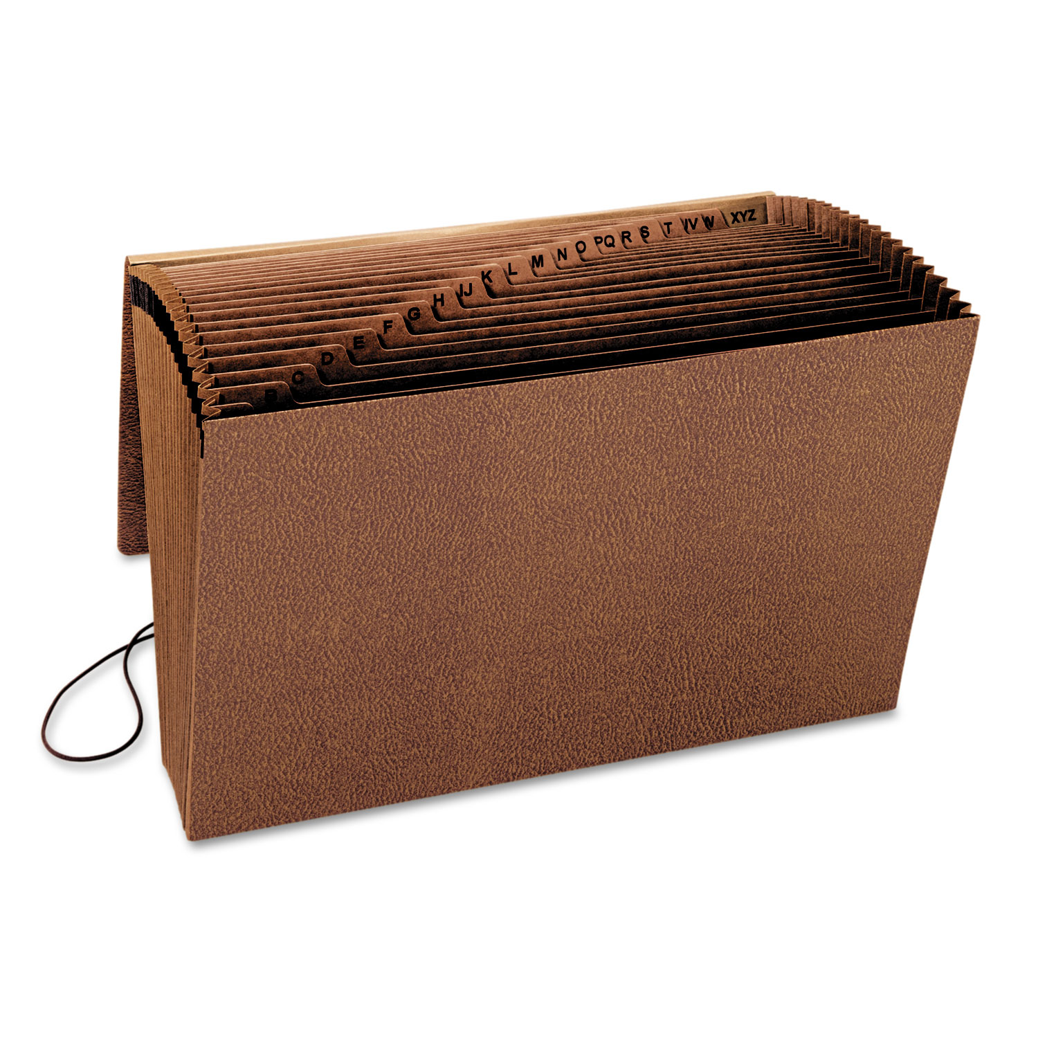 Heavy-Duty A-Z Expanding File, 21 Pocket, Legal, Redrope Printed