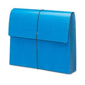 "Extra-Wide 5 1/4"" Exp Wallets, 12 3/8 x 10, Navy Blue"