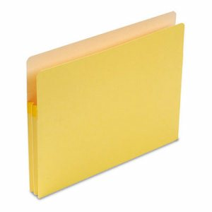 "1 3/4"" Exp Colored File Pocket, Straight Tab, Letter, Yellow"