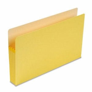 "3 1/2"" Exp Colored File Pocket, Straight Tab, Legal, Yellow"