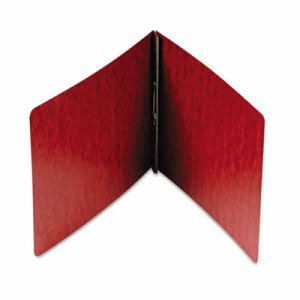 End Opening PressGuard Report Cover, Prong Fastener, Letter, Red