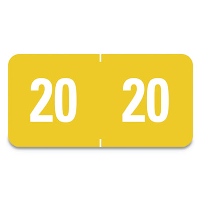 Yearly End Tab File Folder Labels, 1 x 1/2, Yellow, 250 Labels/Pack