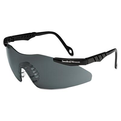Magnum 3G Safety Eyewear, Black Frame, Smoke Lens