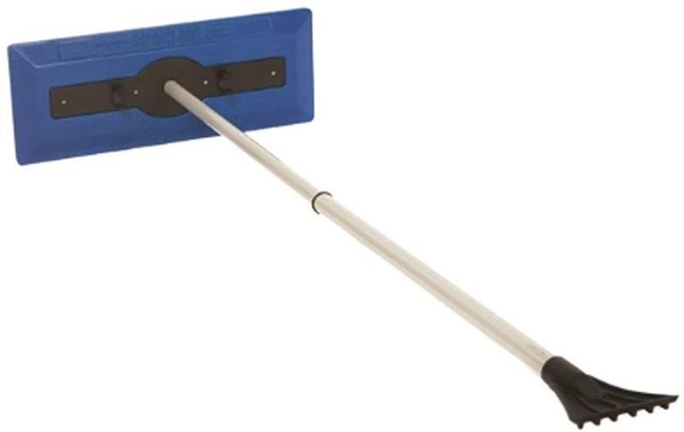 Snow Joe SJBLZD Snow Broom With Ice Scraper, 18 in W, 30 - 49 in, Telescoping