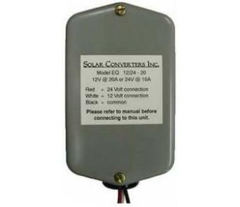 SOLARCON, EQ 12/24V 20, DC-DC CONVERTER, 10A/24VDC TO 20A/12VDC