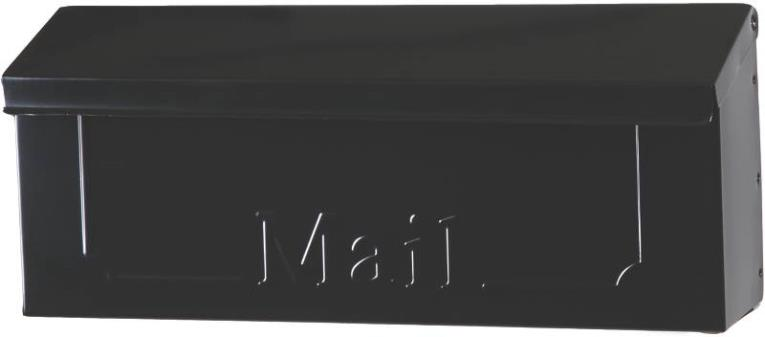 Gibraltar THHB0000/THHB0001 Horizontal Mail Box, 6-5/8 in W x 4-3/8 in D x 15-1/2 in H, Black