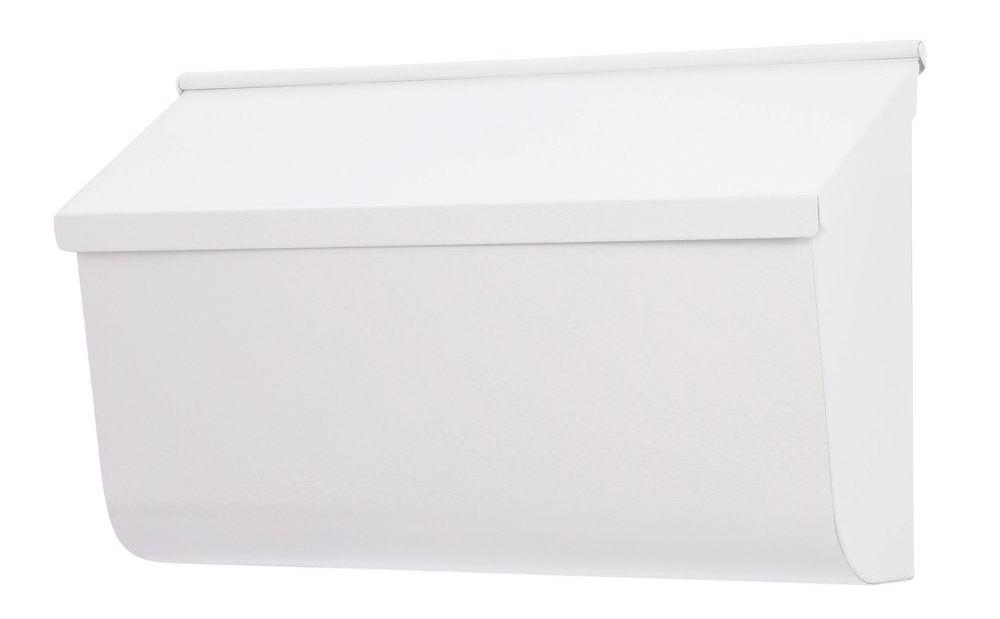 Gibraltar L4009WW0 Heavy Duty Mail Box, 4-3/4 in W x 10 in D x 17 in H, White