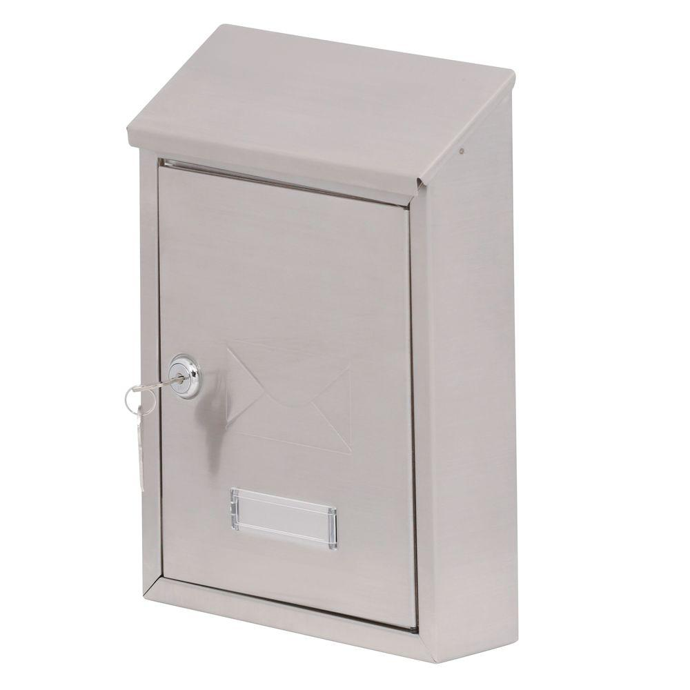 Gibraltar HWVK0SS01 Lockable Vertical Mail Box, 8-1/2 in W x 2-1/2 in D x 11.925 in H, Gray