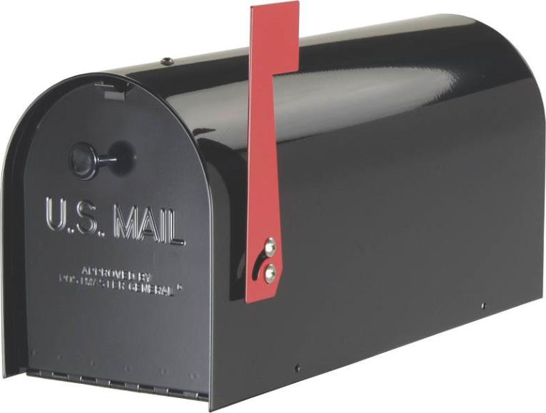 Tuffbody Heavy-Duty Rural Mailbox, Black