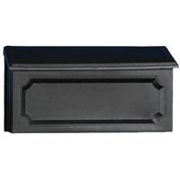 Solar Windsor WMH00B04 Mailbox, 15-3/4 in W x 5-7/8 in D x 8-3/4 in H, Black