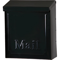 Solar Group Mailbox Wall Locking Blk