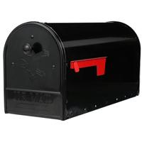 MAILBOX 2-DOOR STEEL BLK LARGE