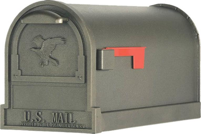 Solar AR15T Mail Box, Bronze, 9-1/2 in W X 23 in D X 11 in H