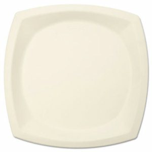 "Bare Eco-Forward Sugarcane Plate Perfect Pak, 10"" dia, Ivory, 125/Pk"