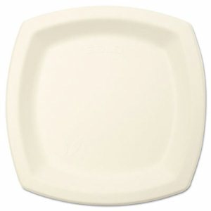 "Bare Eco-Forward Sugarcane Dinnerware Perfect Pak, 6 7/10"" Plate, Ivory, 125/Pk"