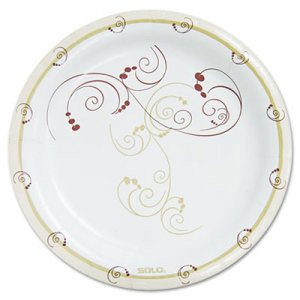 "Symphony Paper Dinnerware, Heavyweight Plate, 9"", Tan, 125/Pack"