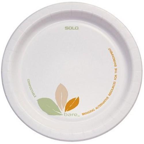 "Bare Paper Eco-Forward Dinnerware, 6"" Plate, Green/Tan, 500/Carton"