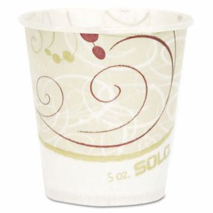 Paper Water Cups, Waxed, 5oz, 100/Pack